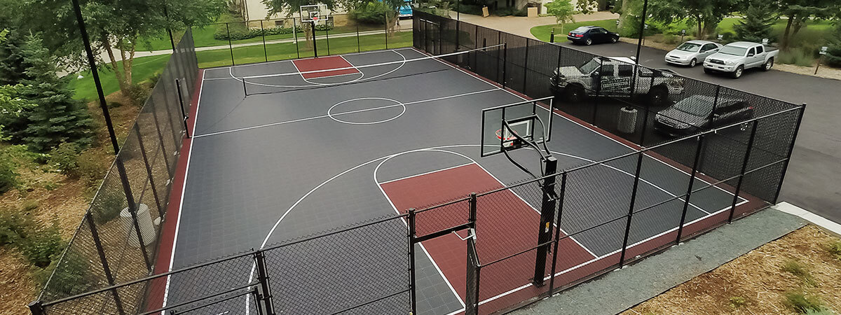 Burgundy and Graphite commercial multi-court
