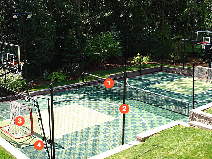 Ball Containment and Game Net Options
