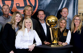 The SnapSports Team with the NBA Larry O'Brien Championship Trophy