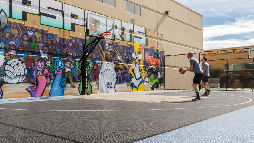 SnapSports corporate basketball court