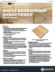 Indoor BounceBack with Maple and ShockTower Specifications thumbnail