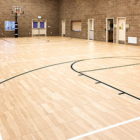 Commercial basketball courts gym flooring snapsports for Indoor residential basketball court